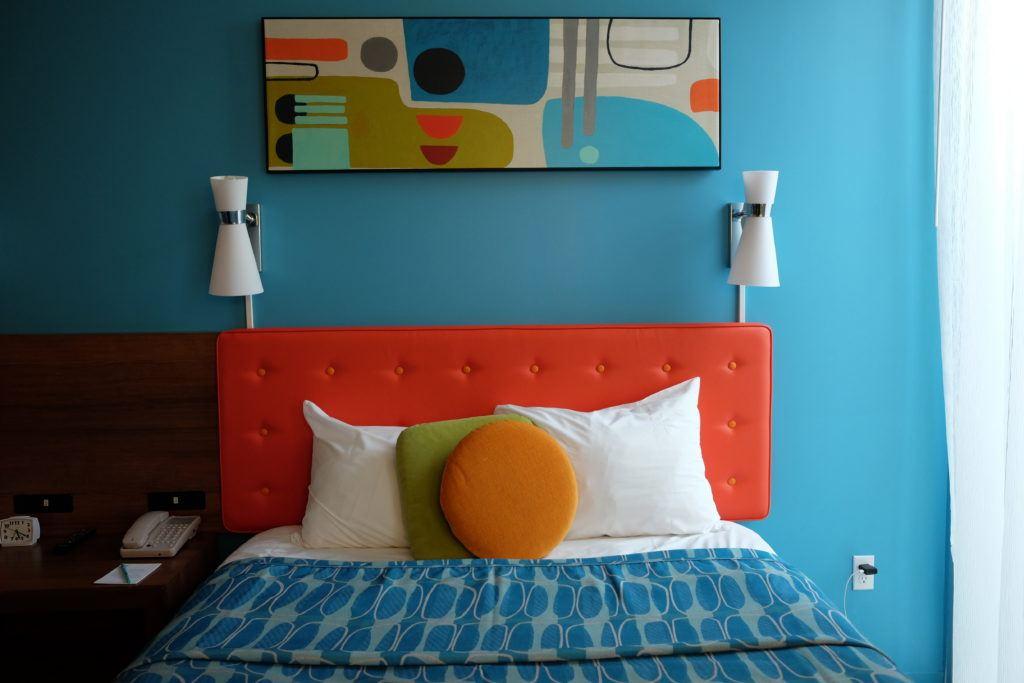 Mid century style room at Cabana Bay Beach Resort at Universal Orlando Resort
