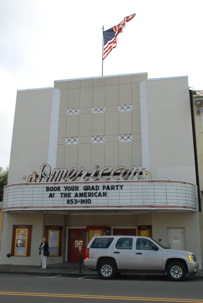 The American Theater, an old fashioned movie theater