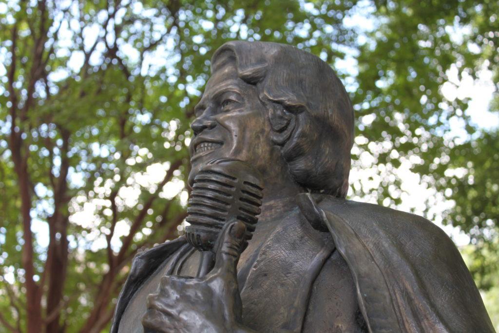 Statue of James Brown in Augusta, Georgia