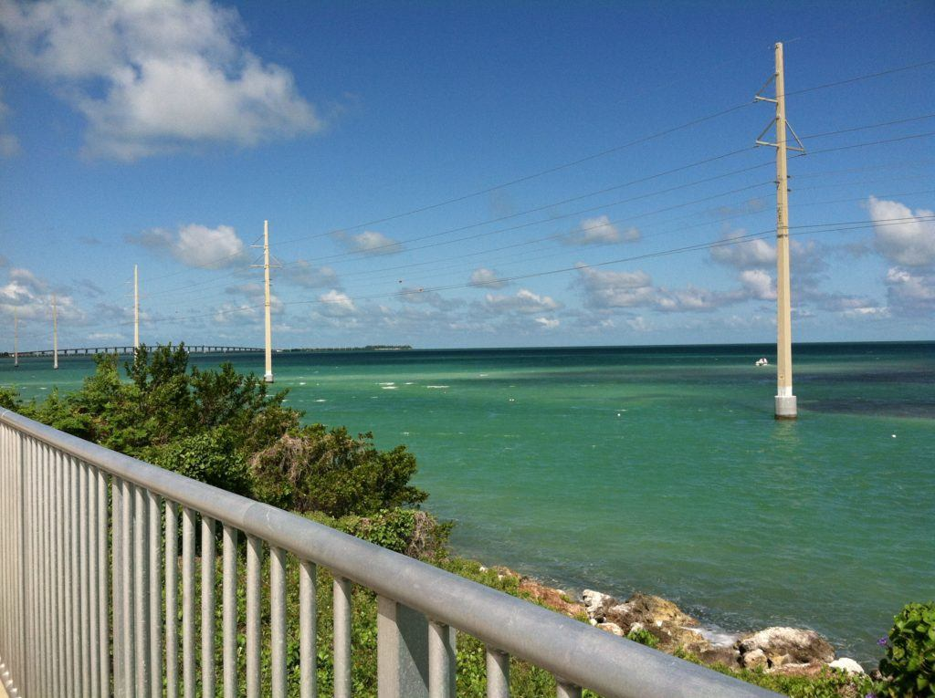 The crystal blue water of the Keys