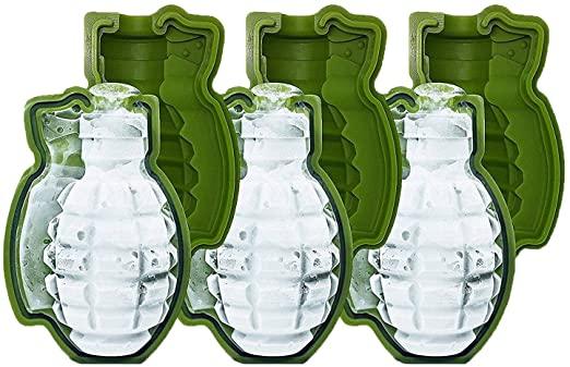 Hand Grenade Ice Mold