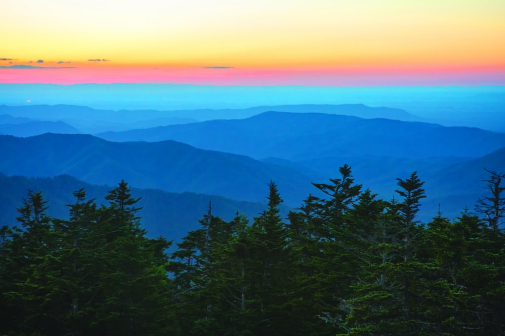 View from Clingmans Dome, Credit: Tennessee Tourism/Journal Communications Inc.